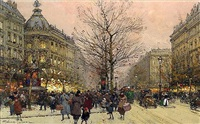 <i>les grands boulevards, paris</i> by eugène galien-laloue